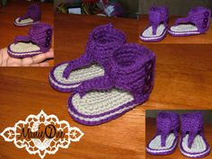 ManieOne makes cute crochet baby sandals; these are the Gladiator Sandals