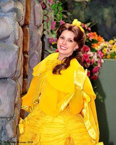 Princess Belle in her warm attire.