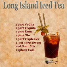 Party alcohol drinks iced tea 27 Ideas for 2019 Party Drinks Alcohol, Liquor Drinks, Alcohol Drink Recipes, Alcoholic Drinks, Bartender Drinks, Tequila Drinks, Cocktails, Cocktail Drinks, Refreshing Drinks