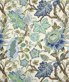 Robert Allen @ Home St Etienne Cotton Lapis Fabric | onlinefabricstore.net