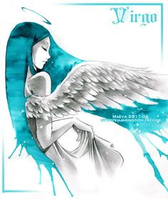 "Lovely! This is one of the prettiest pictures I've ever seen for Virgo. ""Astro: Virgo"" by Maevachan on deviantART"