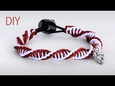 DIY: Macrame Double Spiral Bracelet - Tutorial - YouTube