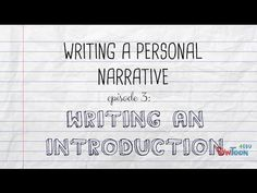 Are you ready to write a personal narrative? First you have to brainstorm some ideas! This video shows you how to think of topics for your narrative writing. Narrative Writing Prompts, Personal Narrative Writing, Memoir Writing, Personal Narratives, Pre Writing, Teaching Writing, Writing Ideas, Narrative Story, Expository Writing