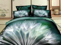 Brand New Dandelion 3d Print 100% Cotton Bedding Set Duvet Quilt Cover Sheet Set Queen Full Size Bedset Bed Linen Gift Online with $90.16on Shanwei's Store | DHgate.com