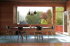 Dining room and window.