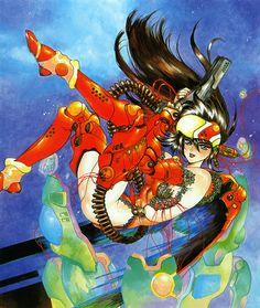 SPACESHIP ROCKET, Masamune Shirow - Intron Deput, cover process and...