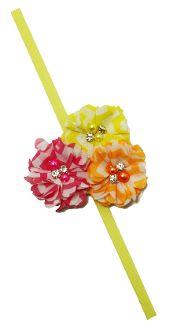 Chiffon Fabric Flowers with Elastic Headband Skinny Headbands, Elastic Headbands, Chiffon Fabric, Stylish Dresses, Pink Yellow, Fabric Flowers, Princess, Elegant Dresses, Burlap Flowers