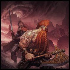 Phroilan's stuff: Curse of the Everliving | GOtrek & Felix (Warhammer) | Art by Phroilan Gardner