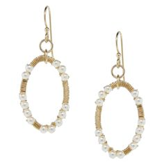 Golden Pearl Earrings | Fusion Beads Inspiration Gallery