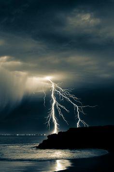 Beach Lightning By Ciaran McCutcheon