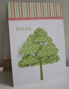 Today I madetwo cards that are the same layout and design, both have a tree as the focal point ... and they both use the same sentiment. T...
