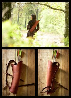 The back quiver. It's made of natural leather