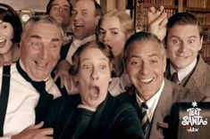 "There's even a scene with the writer Julian Fellowes. | George Clooney Has Appeared In A Special ""Downton Abbey"" Sketch For Charity"