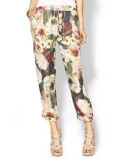 haute hippie floral pants @youarehere