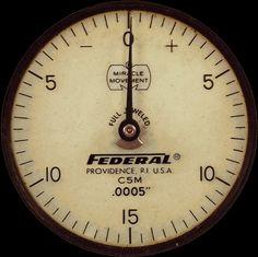 "Journey Through Steam: Miracle Movement Federal RI C5M .0005"" Pressure Gauge Instrument Face"