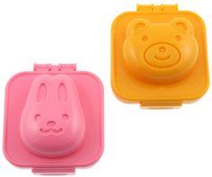 Flippin' adorable.  AE  Kotobuki Plastic Egg Mold, Rabbit & Bear - casa.com