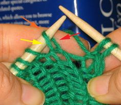 great info with pics about continental COMBINED knitting - the best & easiest way to knit imo