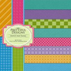 Easter Digital Paper Pack - Personal or Commercial Use - Hippity Hop