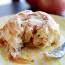 Best Ever Caramel Apple Cinnamon Rolls at laurenslatest.com