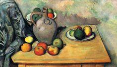 Stilleben, Krug und Früchte auf einem Tisch 1893-1894