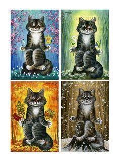 Meditation ACEO miniatures by Irina Garmashova-Cawton