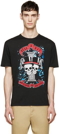 Dsquared2: Black Rock Skulls T-Shirt | SSENSE