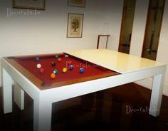 Mesa Versatile - modelo Deluxe:   Mesa de Sinuca e Jantar Integradas!!