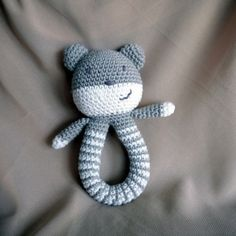 download a FREE pattern every day. ~ Bear (?) Baby Rattle |  Crochet Stash .Tumblr .Com