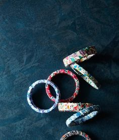 Easy DIY Fabric Bracelets. How to on the click through.