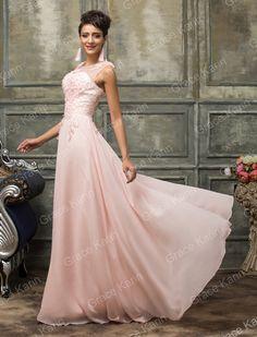 Abito elegante lungo da donna damigella cerimonia vestito festa sposa ballo  sera  c6404245177