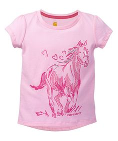 Look at this #zulilyfind! Pale Peony Running Horse Tee - Infant & Toddler #zulilyfinds