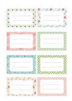 Resultado de imagen para etiqueta de cuadernos para mujeres