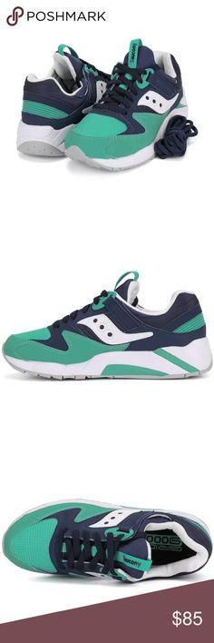 Saucony Grid Mens shoe size 7 FEATURES - Lightweight synthetic upper that provides breathability and supreme comfort - Interior bootie construction - EVA midsole with visible G.R.I.D. system providing exceptional cushioning. Ready to ship today with box Tracking Information provided for all orders Saucony Shoes Athletic Shoes