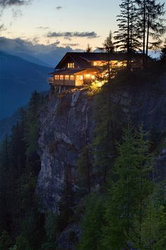 house on cliff
