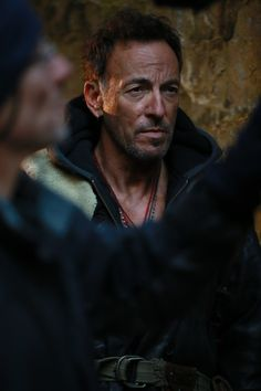 """""""Hunter of Invisible Game"""" behind-the-scenes photos. #springsteen"""