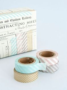 Striped masking tape