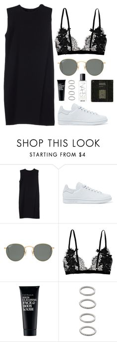 """Untitled Set #266"" by sofialucja ❤ liked on Polyvore featuring Alexander Wang, adidas Originals, Ray-Ban, Clark's Botanicals, Forever 21, NARS Cosmetics, outfit, simple, black and polyvoreeditorial"