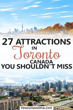 27 Toronto Tourist Attractions That You Shouldn't Miss There are lots of things to do in Toronto, Canada's biggest city. Toronto Vacation, Toronto Travel, Trip To Toronto, Ontario Travel, Toronto Tourism, Downtown Toronto, Hawaii Vacation, Canada Vancouver, Canada Toronto City