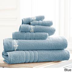 Fleur Swirl Embroidery 6-piece Towel Set