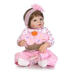 Spirited Npk Brand Bebes Reborn 57cm Lovely Full Silicone Reborn Baby Girl Doll With Denim Dress Real Bonecas Reborn Child Gift Toys & Hobbies