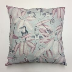 Aviary Pink Scatter Cushion X Floral and leaf prints with plain back. Made from Hertex Fabric cotton front and back. Scatter Cushions, Throw Pillows, Hertex Fabrics, Home Decor Trends, Bedroom Designs, Leaf Prints, Floral, Pink, Cotton