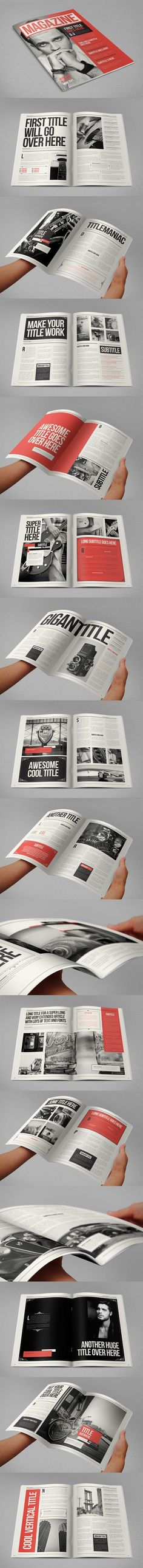 Layout design / Retro Vintage Magazine on Editorial Design Served by frances