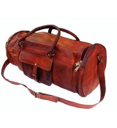 SKH44 26' Men's Genuine Leather Vintage Duffle Gym Travel Luggage Bag * For more information, visit image link.