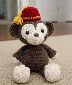Crochet Amigurumi Pattern Simi the Monkey by littlemuggles