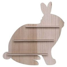 Save on quality Mykel Wood Bunny Shelf Harriet Bee Wood Wall Decor, Wood Wall Art, Wood Walls, Wood Shelves, Display Shelves, Putting Baby To Sleep, Rabbit Silhouette, Wooden Rabbit, Baby Boy Rooms