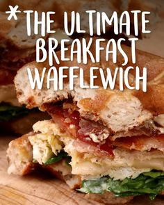 This is actually a pretty brilliant way to cook eggs. The Ultimate #Breakfast #Wafflewich #Tastyfoodvideos