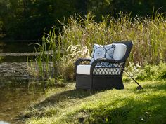 Gone fishin'. (Chair from our new Lakehouse collection.).    I would love to be here!