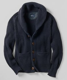 Whaler Rib Cardigan: SWEATERS and SWEATSHIRTS | Free Shipping at L.L.Bean Signature