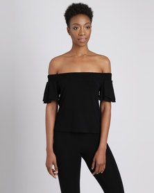 Utopia Off Shoulder Knit Top Black One Day Only, Shirt Blouses, Shirts, Black Tops, Shoulder, Lady, Shopping, Dresses, Women