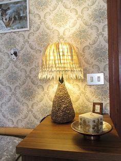 ... comodino/Lampada foglie libro/Lampada libro/Lampada originale/Luce